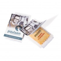 4C bedruckter Vanille-Butterkeks mit Faltkarte