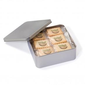 24 x 4C bedruckte Butterkekse in Metallbox