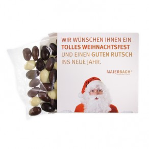 Weihnachtsmandeln in Kartonage