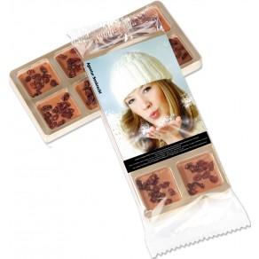 8 Mini-Weihnachtsschokoladen im Goldblister