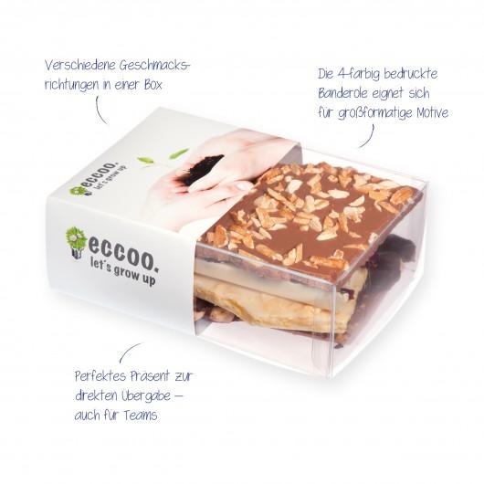 Handgeschöpfte Schokolade in Präsentbox S