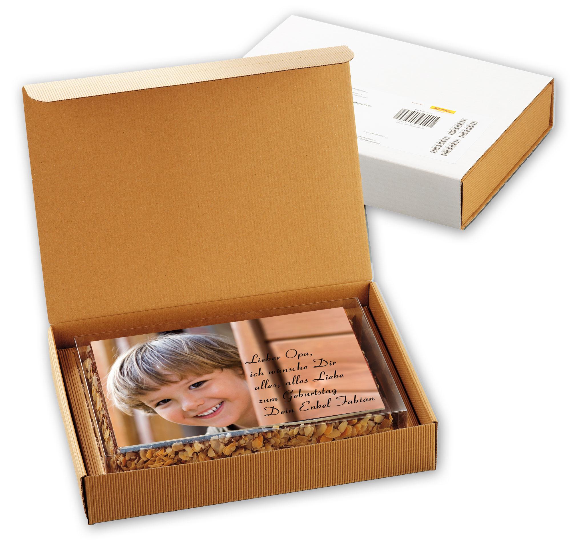 Fototorte in Klarsicht- und Geschenkkartonage – 26 x 18 cm